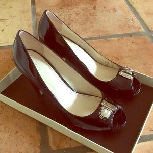 COACH black heels size 5.5